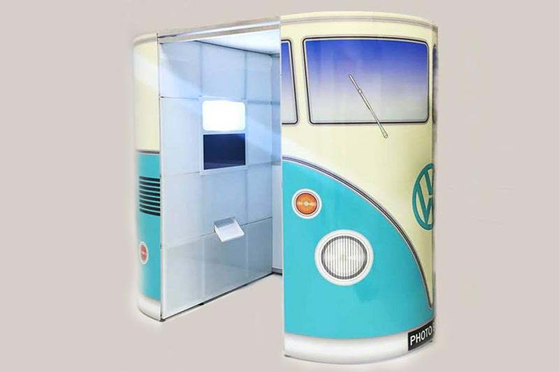 custom branded photo booth for corporate events